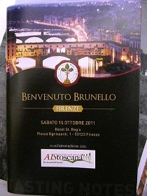 Brunello wine tasting event in Florence